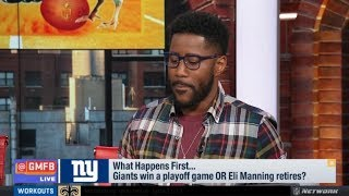 Good Morning Football | Nate Burleson: Giants win playoffs game OR Eli Manning retires?