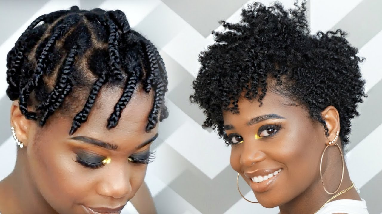 How To Do a Braid-Out on Tapered Natural Hair feat Camille Rose Naturals | MissKenK