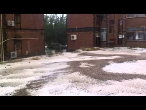 Snow or Hail Rain in Sanaa - Yemen , Part (3)
