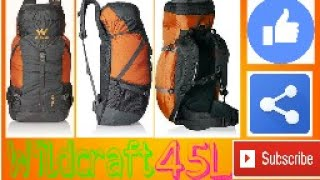 Wildcraft 45 l Rucksack UNBOXING (in hindi)