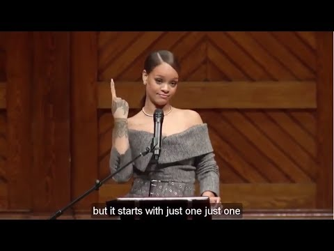 Learn English with Rihanna INCREDIBLE Speech at Harvard University - English Subtitles