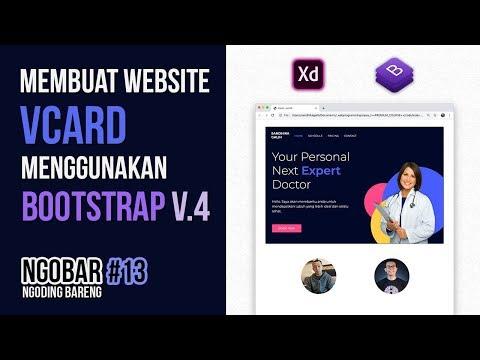 NGOBAR#13 : Membuat Website VCARD (Kartu Nama Online) Menggunakan BOOTSTRAP Versi 4