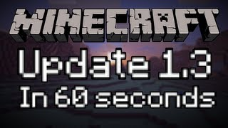 Minecraft 1.3 in 60 Seconds (Ender Chests, Tripwires, Golden Apples, New Enchanting System)
