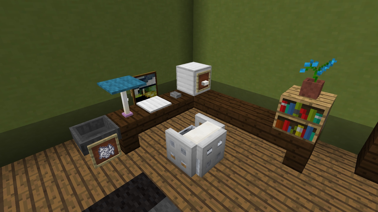 comment faire un bureau de chambre minecraft youtube. Black Bedroom Furniture Sets. Home Design Ideas
