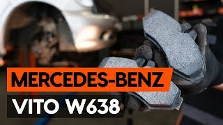 How to replace Brake pad set MERCEDES-BENZ VITO Box (638) Tutorial