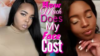 how much does my face cost ft daquana white   summer glow makeup look