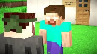 Minecraft影片:如果Him要洗澡(If Herobrine took a Shower)【中文字幕】
