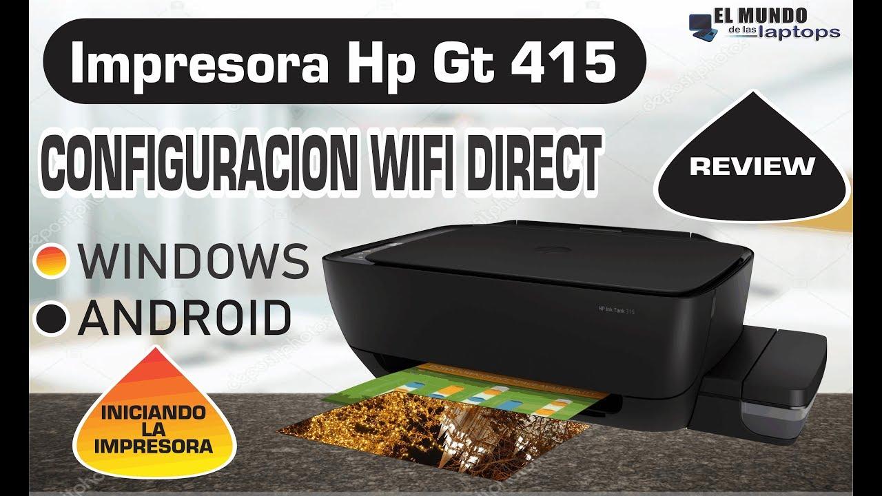 Impresora Hp Ink Tank 415 Configuracion Wifi Direct Review Setup Youtube