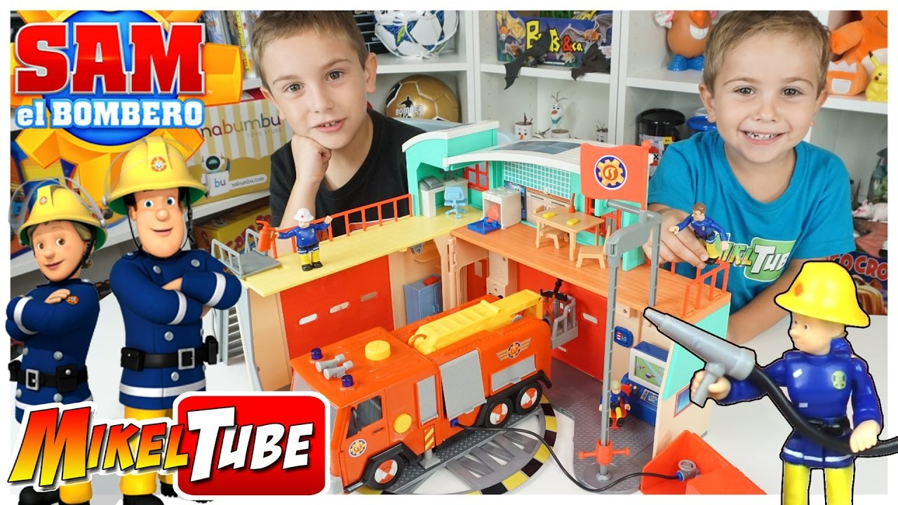 Estación Sam El Bombero Y Caja Sorpresa De Juguetes Nabumbu Youtube