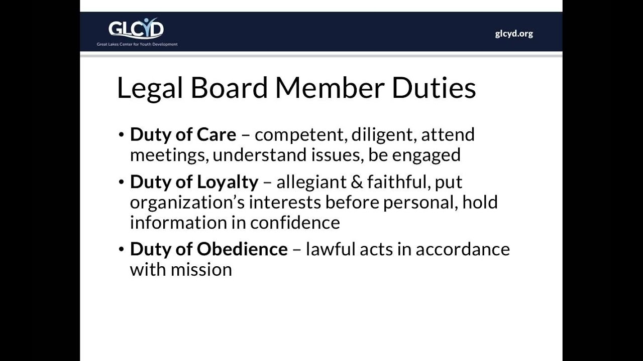 Introduction to being a Nonprofit Board Member