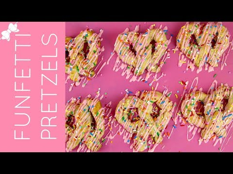 How To Make Homemade Funfetti Soft Pretzels with Glaze and Sprinkles // Lindsay Ann Bakes