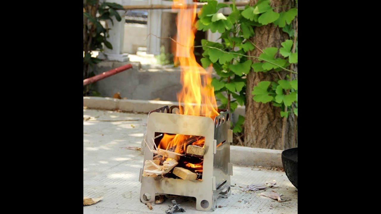 adventure mini folding wood burning stove youtube