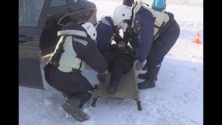 Сотрудники МЧС Нижнекамска спасали людей на переправе Красный Ключ – Покровское