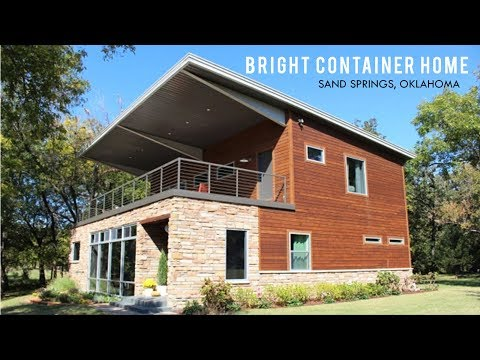 Bright Container House in Sand Springs, Oklahoma