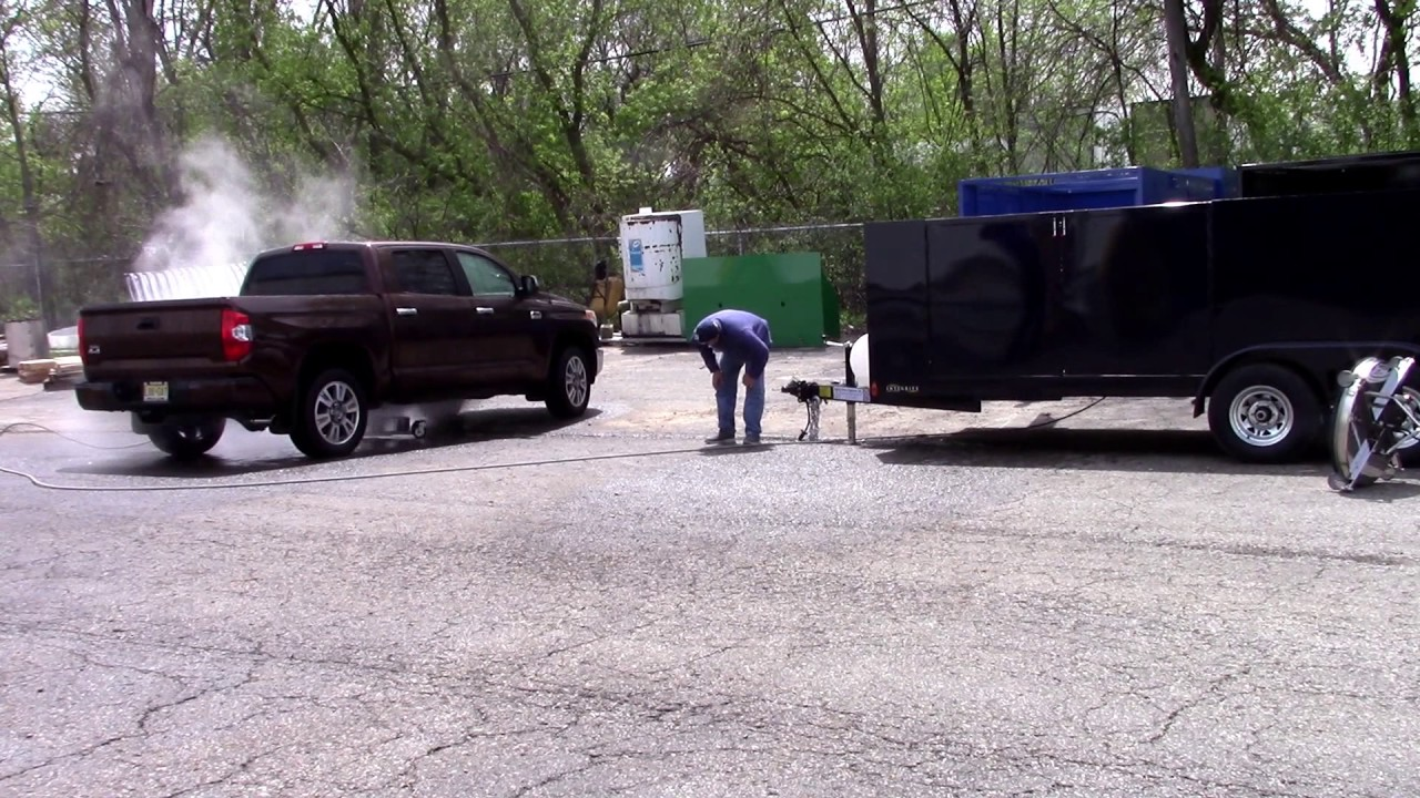 Copy of The Beast 3500 PSI @ 9 GPM Hot Water Pressure Washer & 425 CFM Gas  Vac & Low Pro Trailer