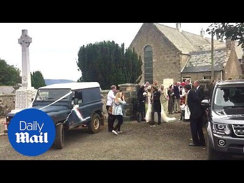 Kit Harington And Rose Leslie Leave Church After Getting Married