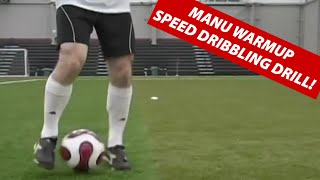 Manchester United Soccer Speed Dribbling Drill- Practice Dribbling With The Inside Of Your Feet