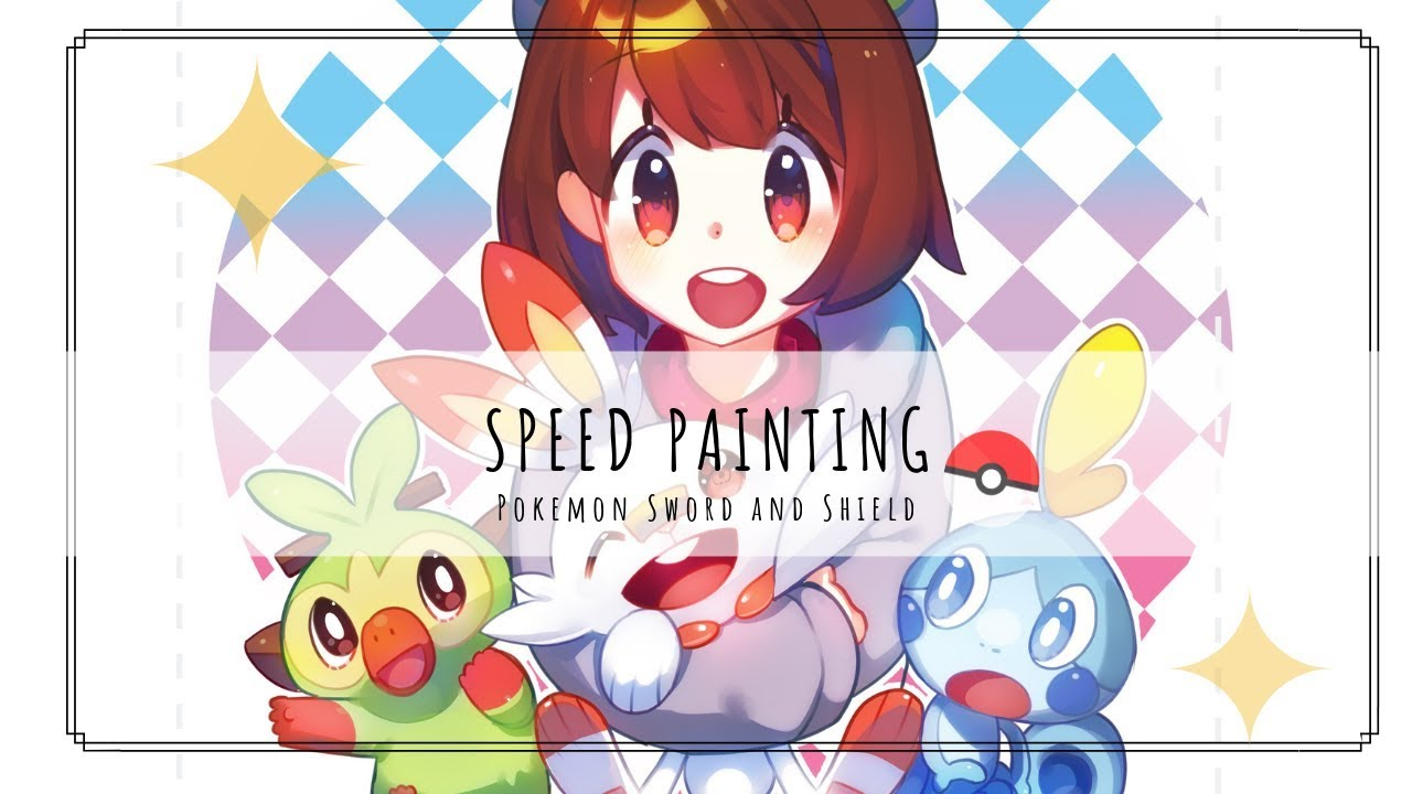 Speed Paint Pokemon Sword And Shield Fanart Youtube