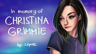 Speedpaint - In Memory of Christina Grimmie