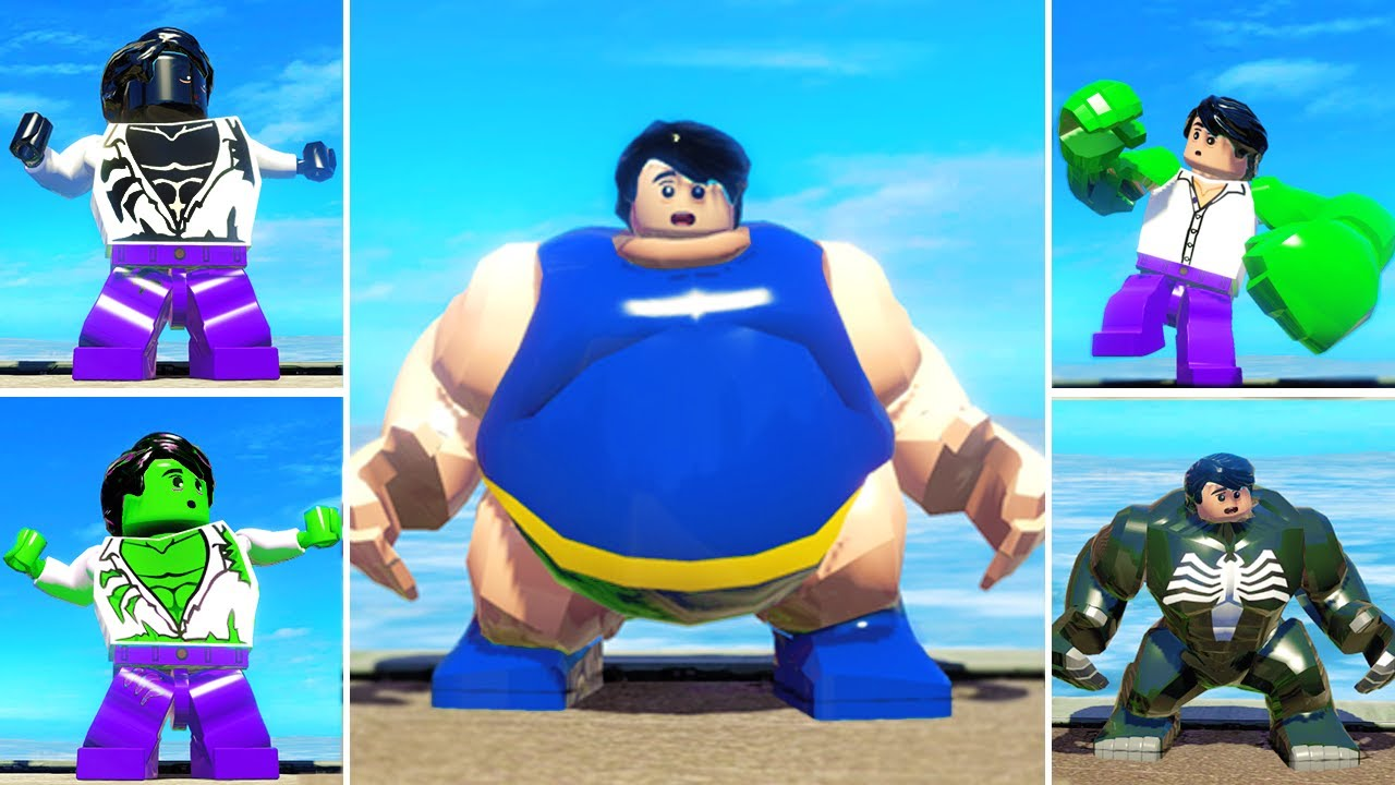 Download The Best HULK Transformations Animation w/ Lego Red Hulk, Venom Transformations