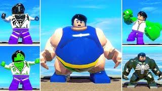 The Best HULK Transformations Animation w/ Lego Red Hulk, Venom Transformations