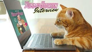 Kater Peaches stellt mir Fragen zum Kochbuch | funnypilgrim