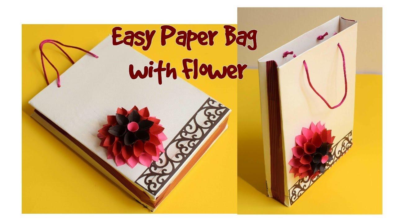 Download How to make Easy Paper Bag/ DIY Paper Flower/ Handmade Gift Bag