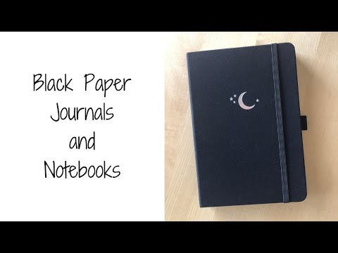 Black Paper Journals and Notebooks