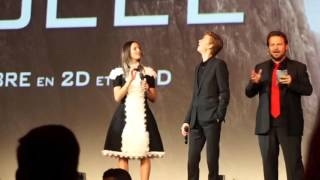 The Scorch Trials Premiere at 'Le grand Rex' with Kaya Scodelario & Thomas Brodie Sangster