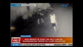 UB: Mga menor de edad, na-huli cam na nagnanakaw umano sa ilang sasakyan