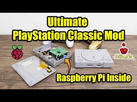 Ultimate PlayStation Classic Mod - I Put A Raspberry Pi In It! - YouTube