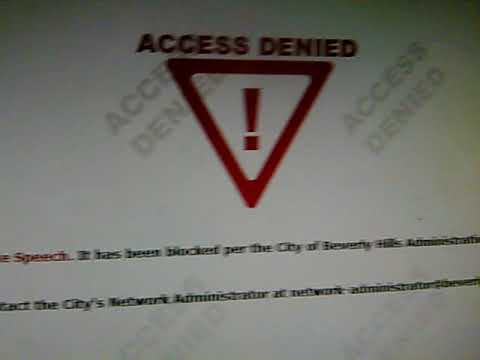 """CITY OF BEVERLY HILLS (CA)  HAS  BLOCKED """"JIHAD WATCH"""" for being """"HATE SPEECH"""""""