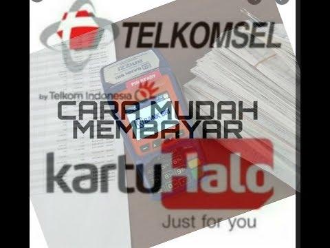 Membayar Kartu HALO Telkomsel Pascabayar kini bisa menggunakan edc brilink