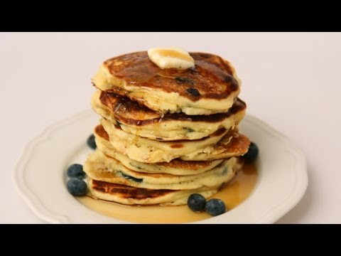 homemade-blueberry-pancake-recipe---laura-vitale---laura-in-the-kitchen-episode-426