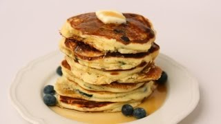 Homemade Blueberry Pancake Recipe - Laura Vitale - Laura in the Kitchen Episode 426