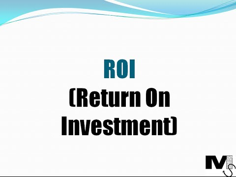 Return On Investment (ROI) - Simplest explanation ever