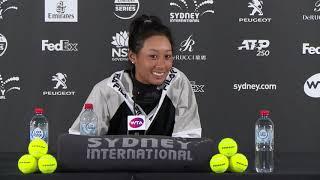 Priscilla Hon press conference (2R) | Sydney International 2019