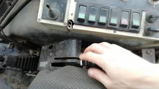 вОМ. Воздушное включение выключение на тракторе МТЗ 82