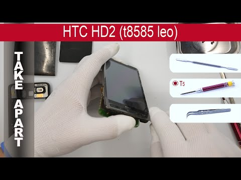 How to disassemble 📱 HTC HD2 T8585, Take Apart, Tutorial