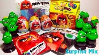 РЕД против ЗЕЛЁНЫХ СВИНОК Angry Birds В Кино RED vs. GREEN Pigs - СЮРПРИЗЫ Игрушки. ANGRY BIRDS toys