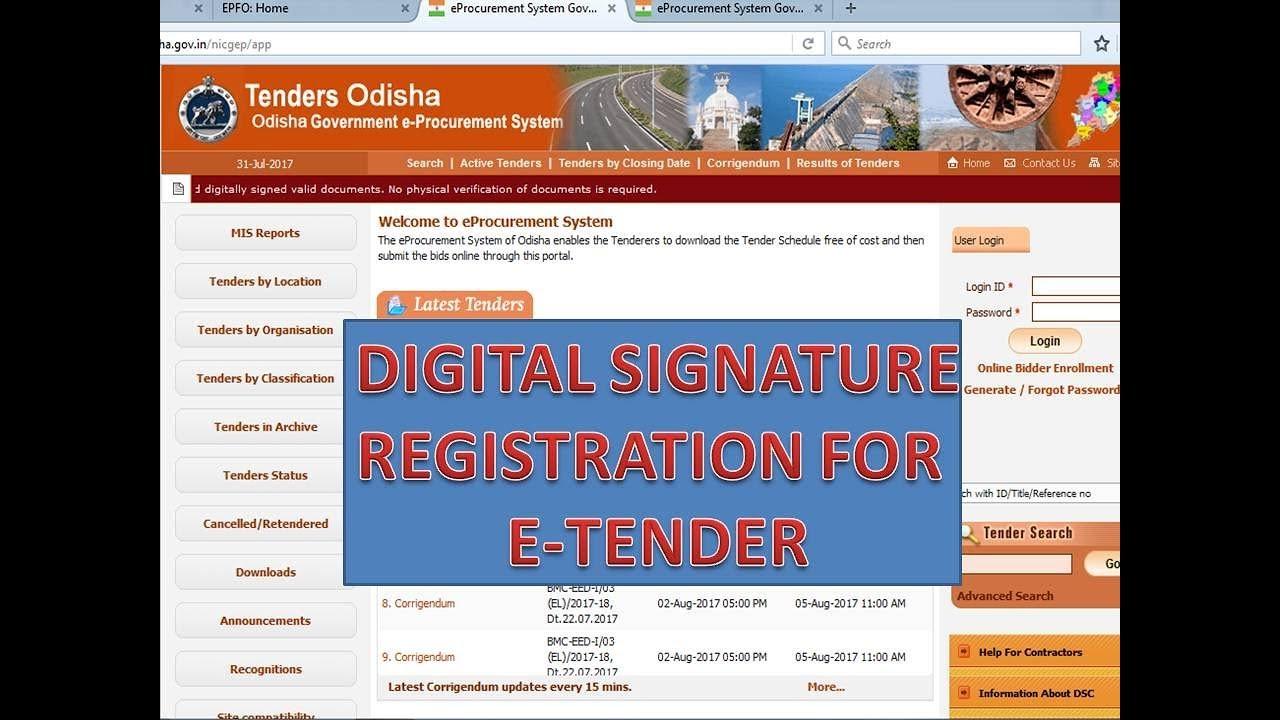What is tender website