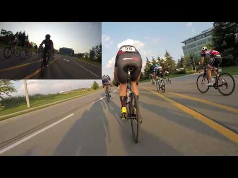 Trainer Workout - Toronto racing  MidweekCrit Aug 8 2017 Late Race