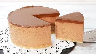 チョコレートチーズケーキ(ゼラチン無し)No-Bake Chocolate Cheesecake Recipe (Without Gelatin)