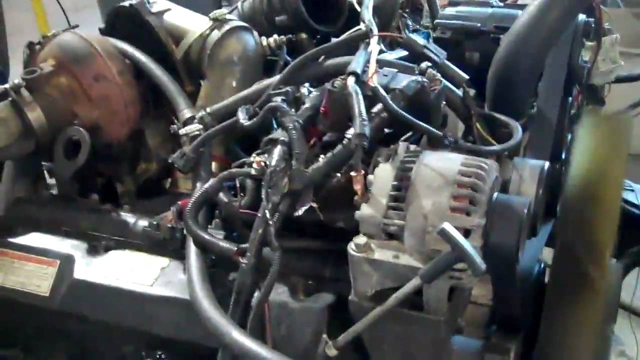 maxresdefault powerstroke test stand youtube 1995 7.3 powerstroke engine wiring harness at eliteediting.co