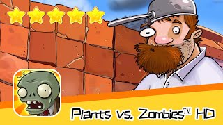 Plants vs  Zombies™ HD ROOF Level 01 Walkthrough The zombies are coming! Recommend index five stars