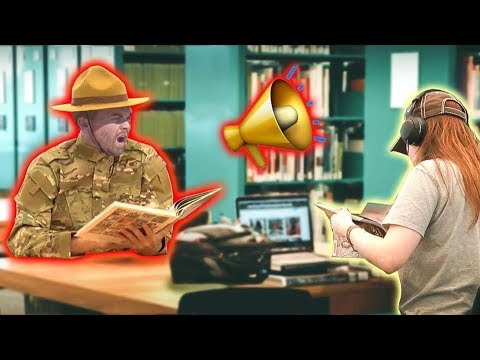 Drill Sergeant Visits the Library