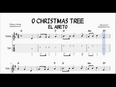 O Christmas Tree in G Major Tabs Sheet Music for guitar with chords El Abeto - O Christmas Tree In G Major Tabs Sheet Music For Guitar With Chords
