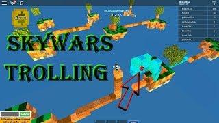 SKYWARS TROLLING!!! - ROBLOX Skywars