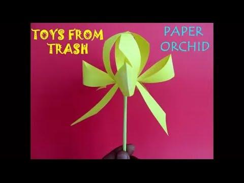 Paper Orchid Hindi Elegant Paper Flower Youtube