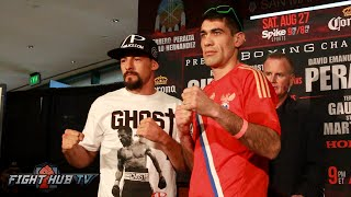 Robert Guerrero vs David Peralta & Alfredo Angulo vs. Freddy Hernandez Face Off Video